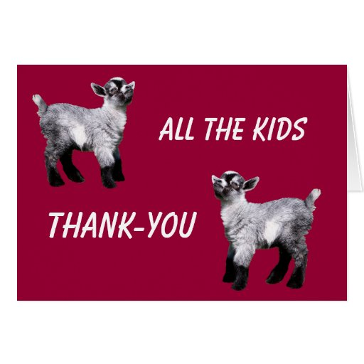 Tarjeta miniatura del de agradecimiento de la cabr