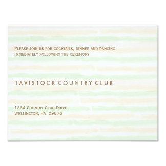 Tarjeta minimalista moderna de la recepción invitación 10,8 x 13,9 cm