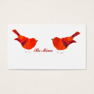 Tarjeta minúscula del el día de San Valentín de