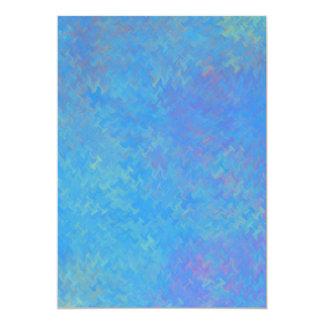 Tarjeta Mirada hermosa del papel veteado del azul