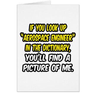 Tarjeta Mire para arriba al ingeniero aeroespacial en