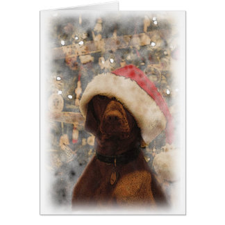 Tarjeta Mis Felices Navidad Vizsla