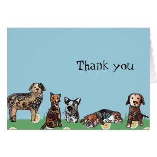 Tarjeta Mis mascotas le agradecen observar