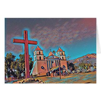 Tarjeta Misión Santa Barbara de California