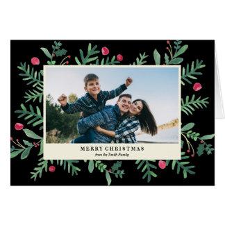 Tarjeta Mismo navidad de la acuarela el | de las Felices