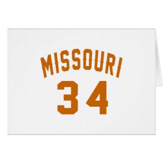 Tarjeta Missouri 34 diseños del cumpleaños