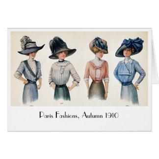 Tarjeta Moda de Edwardian del vintage de París Notecard