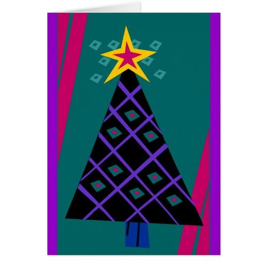 Tarjeta Moda del árbol de navidad