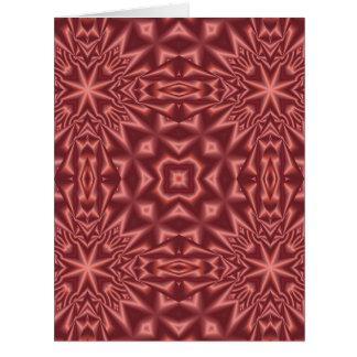 Tarjeta Modelo abstracto rojo