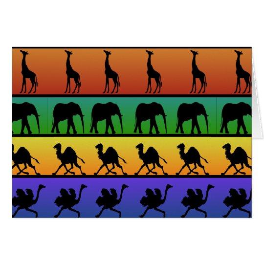 Tarjeta Modelo africano de los animales