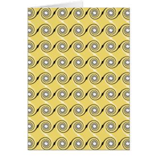 Tarjeta Modelo amarillo, blanco y negro de los remolinos