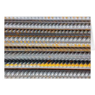Tarjeta Modelo de barras de acero oxidado