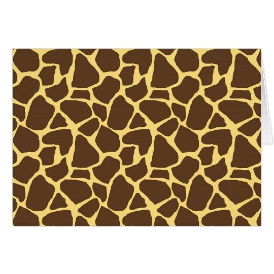 Tarjeta Modelo de la jirafa