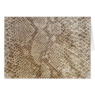 Tarjeta Modelo de la piel del reptil