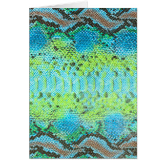 Tarjeta Modelo de la serpiente de la piel del reptil