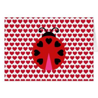 Tarjeta Modelo de los corazones del día de San Valentín