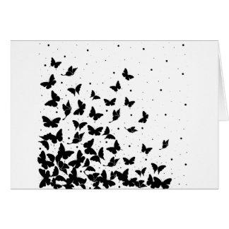 Tarjeta Modelo de mariposa