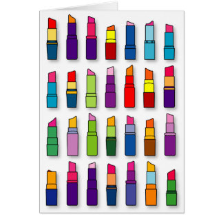 Tarjeta Modelo de moda, femenino de los lápices labiales