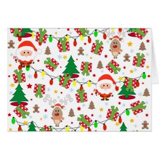 Tarjeta Modelo de Santa y de Rudolph