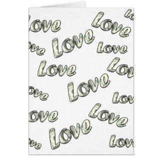 Tarjeta Modelo del amor del dinero