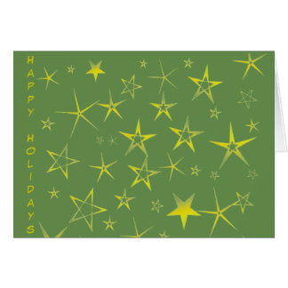 Tarjeta Modelo del día de fiesta de la estrella del oro