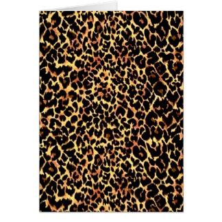 Tarjeta Modelo del guepardo