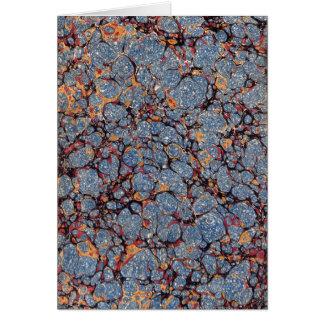 Tarjeta Modelo del papel veteado del azul