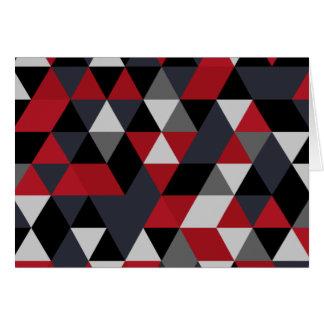 Tarjeta Modelo del polígono de Minimalistic (prisma)