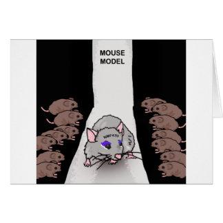Tarjeta Modelo del ratón