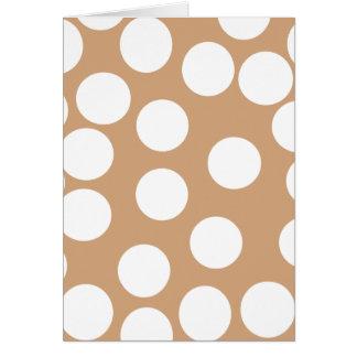 Tarjeta Modelo marrón claro y blanco del punto