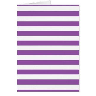 Tarjeta Modelo púrpura y blanco de la raya