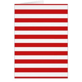 Tarjeta Modelo rojo y blanco de la raya