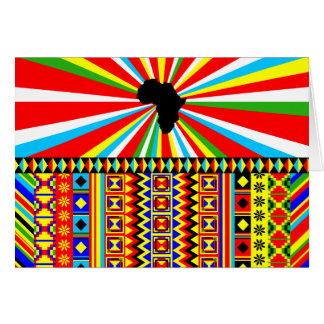 Tarjeta Modelo tribal Ankara de la impresión del paño