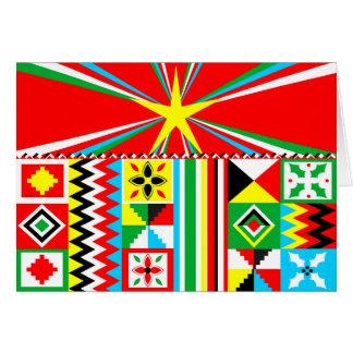 Tarjeta Modelo tribal de la impresión del diseño del paño