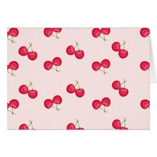 Tarjeta Modelo único de las cerezas dulces