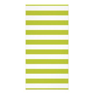 Tarjeta Modelo verde y blanco de la raya