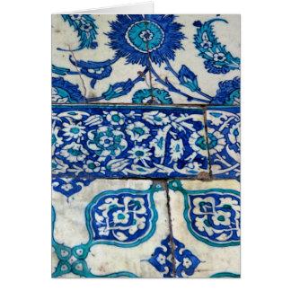 Tarjeta Modelos azules y blancos del iznik clásico del