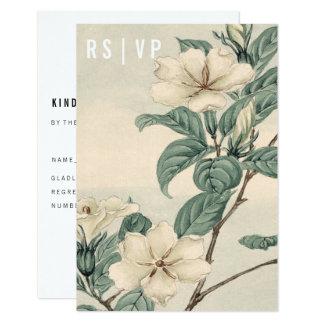 Tarjeta moderna botánica de RSVP Invitación 8,9 X 12,7 Cm