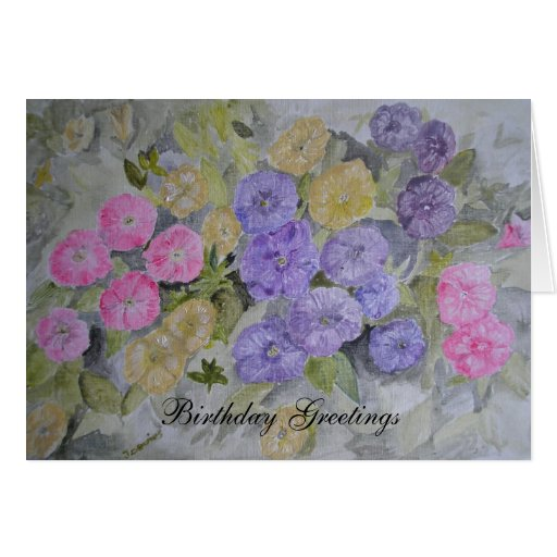 Tarjeta moderna de la flor de la original pintada