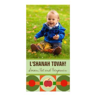 Tarjeta moderna de la foto de Apple Rosh Hashanah