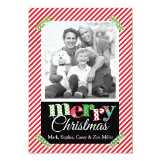 Tarjeta moderna de la foto de las Felices Navidad Invitación 12,7 X 17,8 Cm