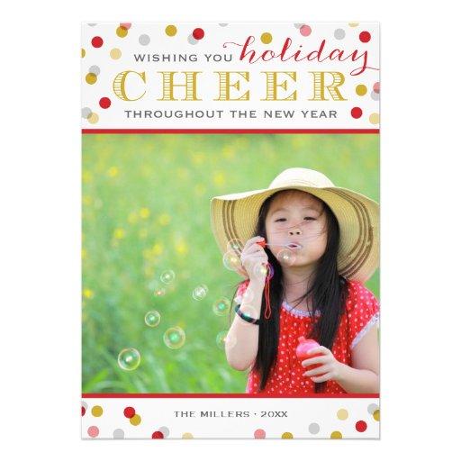 Tarjeta moderna de la foto del navidad de la invitaciones personales