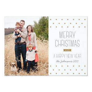 Tarjeta moderna de la foto del navidad de los invitación 12,7 x 17,8 cm