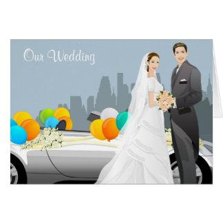 Tarjeta moderna de la invitación del boda
