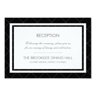 Tarjeta moderna de la recepción del corazón - invitación 8,9 x 12,7 cm