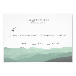 Tarjeta moderna de RSVP de la montaña de la Invitación 8,9 X 12,7 Cm