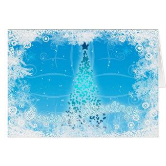 Tarjeta moderna del árbol de navidad de los saludo