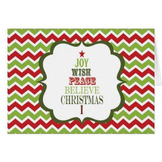 tarjeta moderna del árbol de navidad del galón del