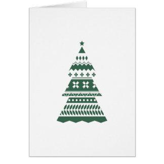 Tarjeta moderna del árbol de navidad - verde