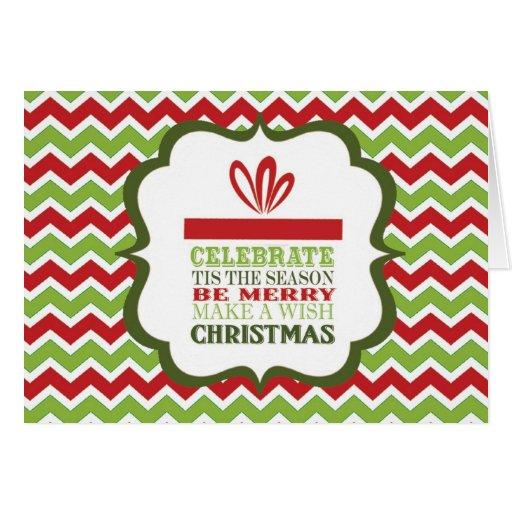tarjeta moderna del galón del regalo de Navidad de